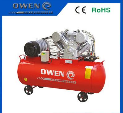 High pressure belt piston air compressor