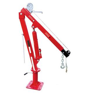 2000LBS Pickup Truck Crane Swivel Base Hydraulic Lifting Crane