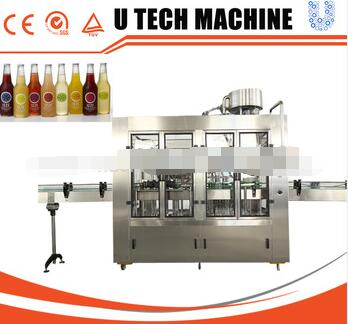 Automatic Juice Glass Bottle Filling Machine/Glass Bottle juice Filling Line
