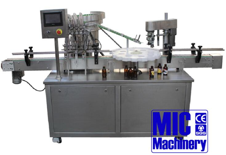 Micmachinery small bottle filling and capping machine with CE standard speed 30-50pbm