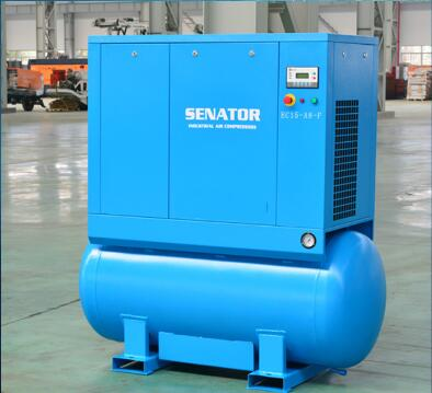 7.5kw screw type industrial electric air compressor