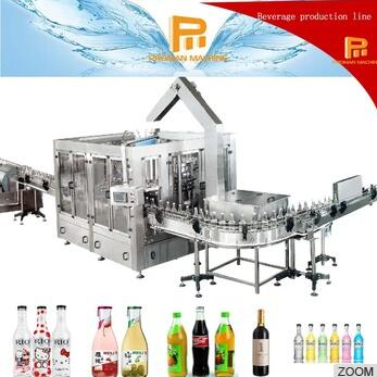 Pet Glass Bottle Water Drinks Rinser Filler Capper Filling Machine Plant