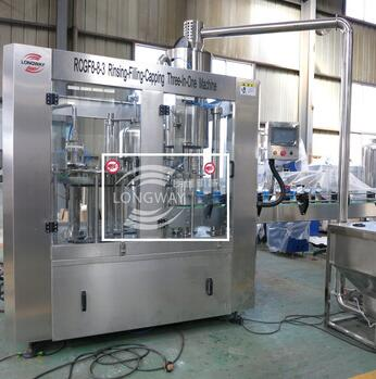 High Quality RCGF 8-8-3 Granular Orange Drinks Washing-Filling-Capping Machine
