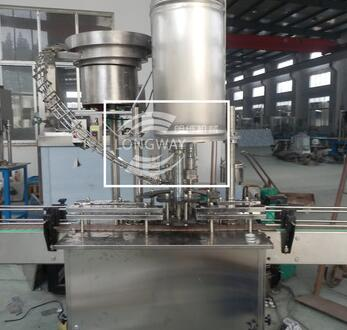 Automatic plastic screw cap bottle capping machine for plastic/glass bottles