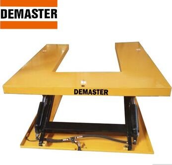 CE Certification low profile U shape stationary type electric lift table