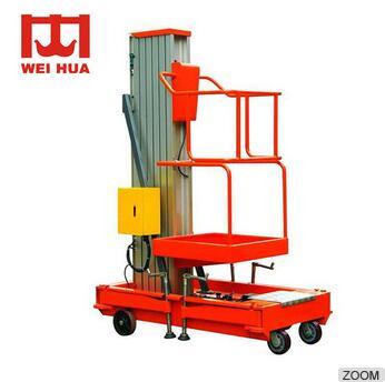 Aluminum Alloy Mast Hydraulic fixed scissor one man personal lift platform