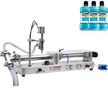 Desktop semi-auto liquid or viscous liquid filling machine for pouch / stand-up pouch / bottle