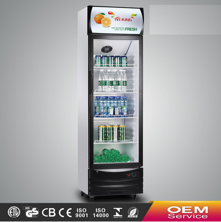 Glass display commercial showcase refrigerator supermarket equipment