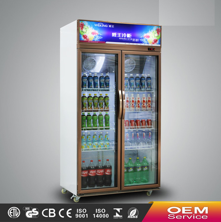 Supermarket equipment commercial showcase glass display showcase refrigerator
