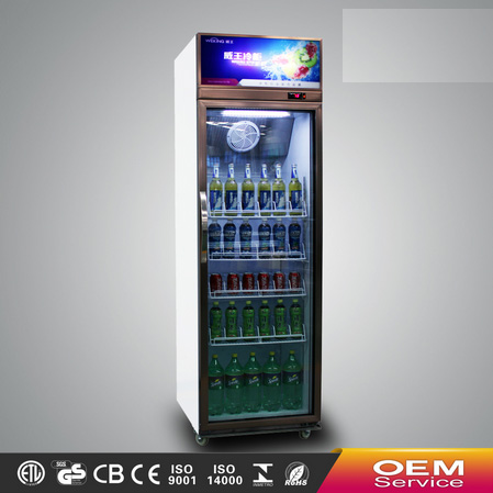 Supermarket equipment commercial showcase single door glass display showcase refrigerator