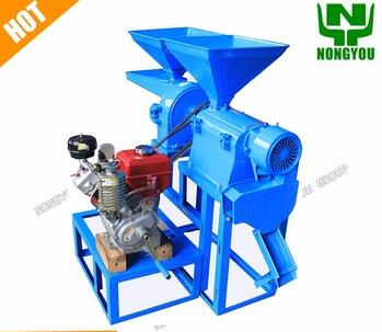 4HP Portable Rice Mill For Home Use Diesel Engine 6NF-2.2