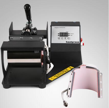 Digital Coffee Cup Latte Mug Heat Press Transfer Sublimation Machine 2 Mug Attachments