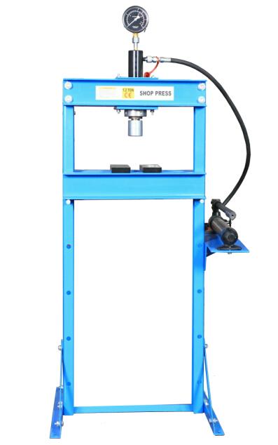 Hydraulic Shop Press With Gauge  DL0712A