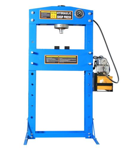 50T Electric Hydraulic Shop Press With Gauge  DL0750C