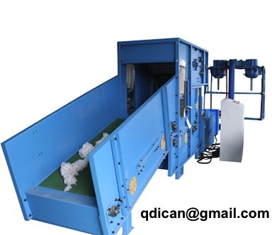 Automatic fiber carding and filling machine