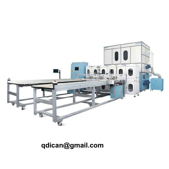 Fully automatic down feather quilt comforter filling machine with weighing system