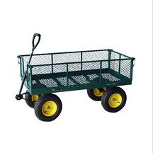 hot sales 4 wheel steel cart garden wagon TC4205