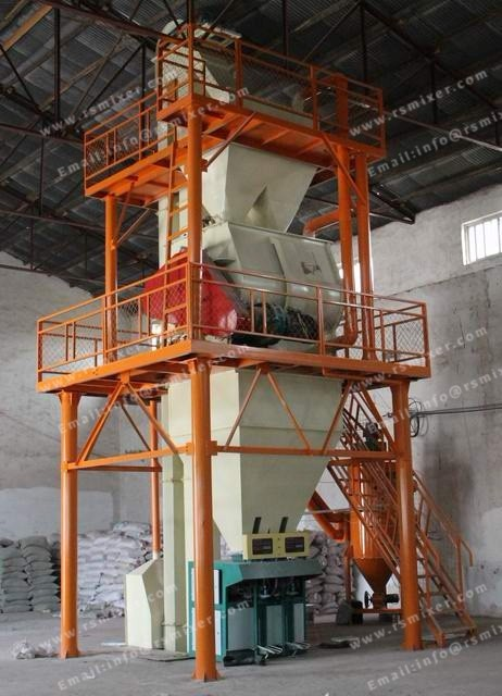 China supplier tower type plant automatic tile adhesive dry mortar production line. Dry mortar mixer machinery. Double dry mortar manufacturing plant with good service for hot sales. Building material machinery dry mortar production line