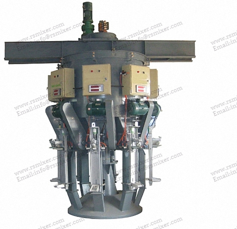 Ruizhi Brand rotary cement valve sack packaging machine ,spiral cement packing machine,multiple mouth cement packing machine,filling machine for sale
