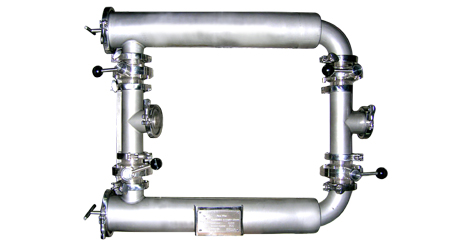 Double Union Pipe Filter