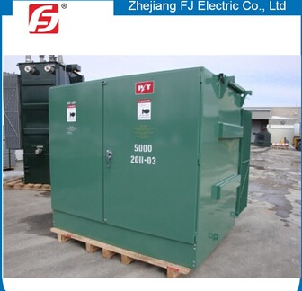 Outdoor substation three phase pad mounted distribution transformer