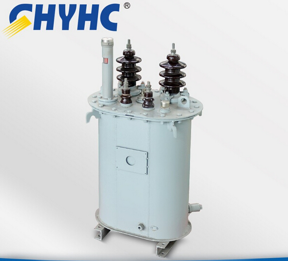 Single-phase oil immersed electrical pole mounted transformer