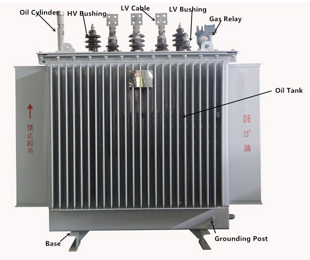50 kva 3 phase oil power transform