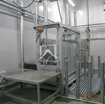 Living cattle slaughterhouse equipment pneumatic reversed box