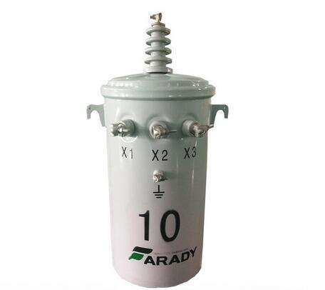 FARADY two windings Oil immersed single phase pole mounted transformer