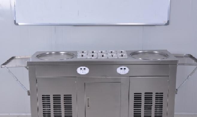 Fry Ice Cream Machine wholesale with sanyo compressor