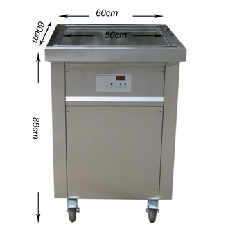 CE Certified Ice Cream Machine with Single Square Pan