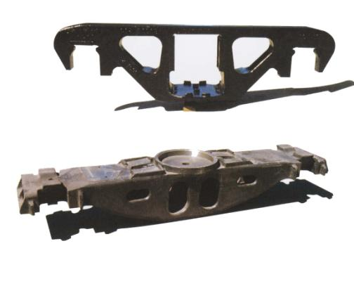 railway casting steel side frame and bolster for CIS and America