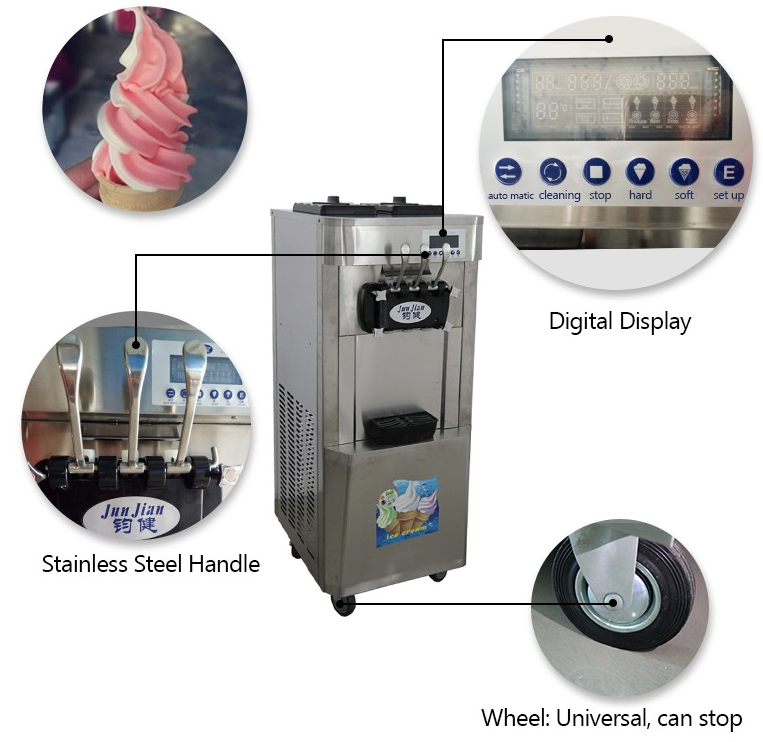 precooling air pump soft ice cream machine
