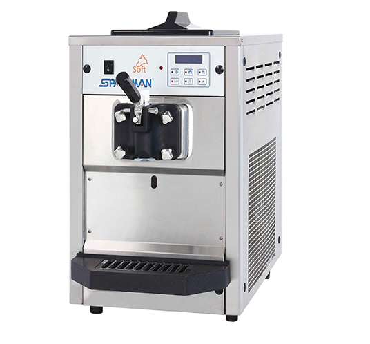 Hopper cooling small soft ice cream shake machine