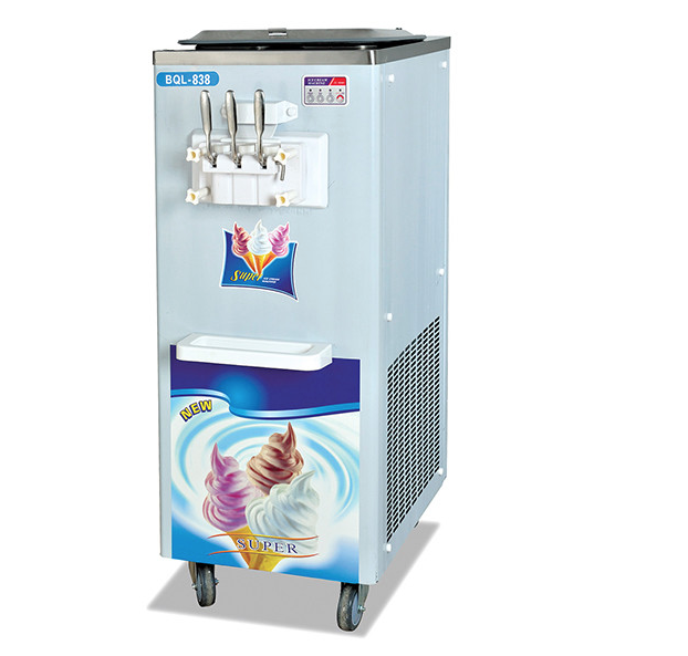 3 flavors soft ice cream machine