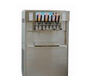 soft serve ice cream machine with 7 flavors