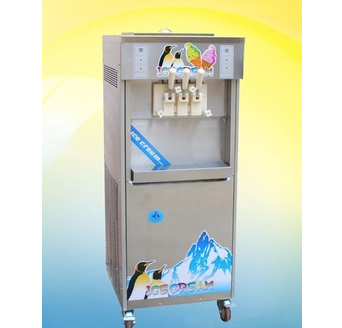 Air Cooling  Three Flavors Soft Ice Cream Machine