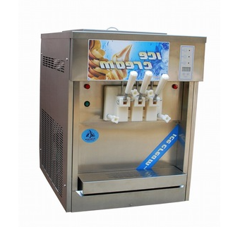 CE Approved Countertop Three Flavors Soft Ice Cream Machine