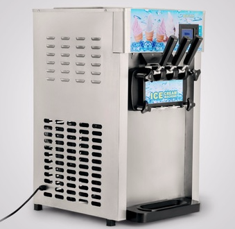 Commercial 3 Flavor Soft Ice Cream Machine