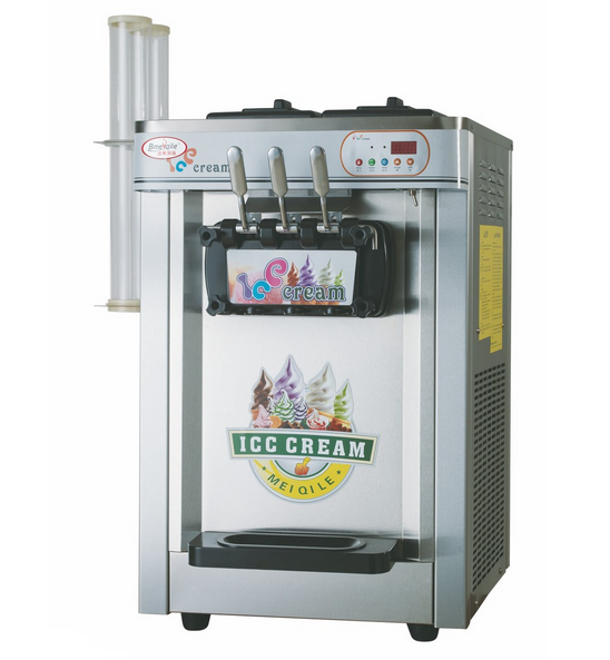 Hot Sale Tabletop Ce Approved 3 Flavors Ice Cream Machine
