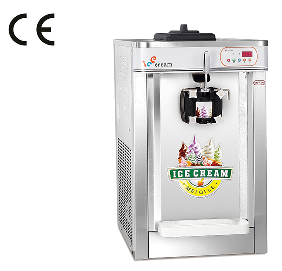 Small Stainless Steel Tabletop Single Flavor Softy Ice Cream Machine