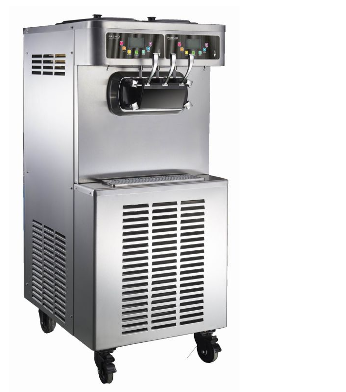 Ice Cream Machine with Automatic Cleaning Device