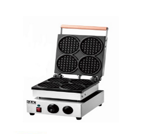 Four Head Round Type Electric Waffle Baker