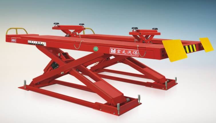 FOUR WHEEL POSITION SCISSOR LIFT