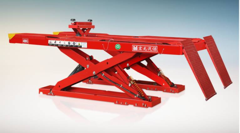Ultra-thin pulley scissor lift