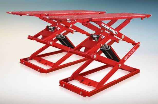 Ultra thin scissor lift