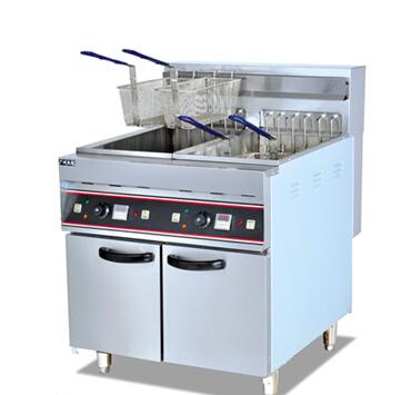 Electric 2-Tank Fryer (4-basket) (freesstanding type)