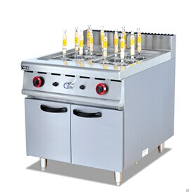 Gas Pasta Cooker with Cabinet