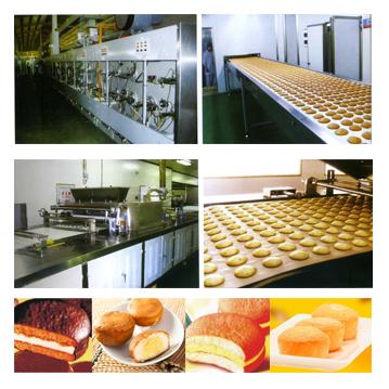 Custard cake production line