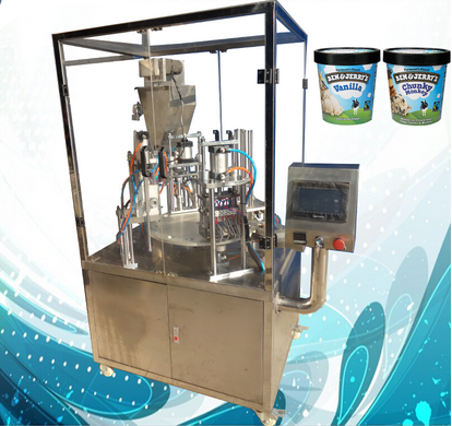 Automatic Rotary Type Ice Cream Cup Filling Sealing Machine